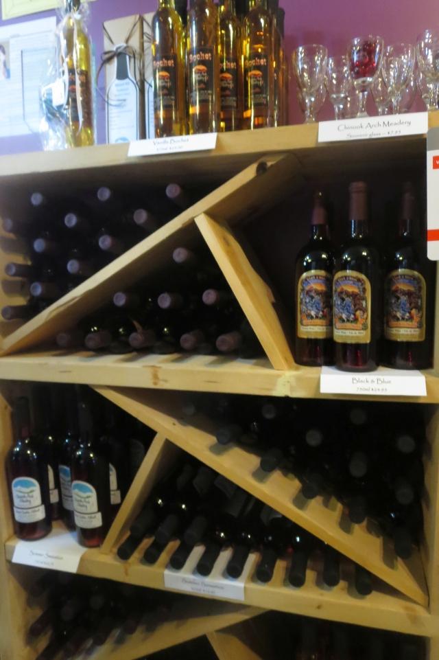 honey wine on display