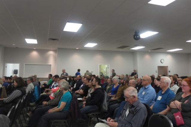 Part of the 150 folks attending last night's bee club meeting in Calgary.
