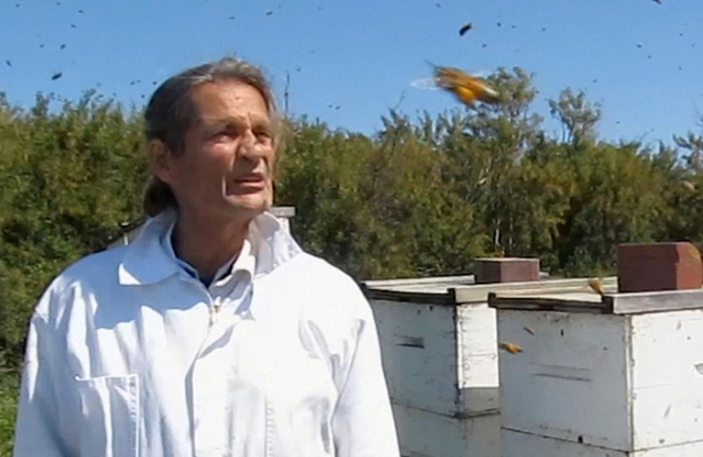 Jacques, at one of our apiaries, in 2011