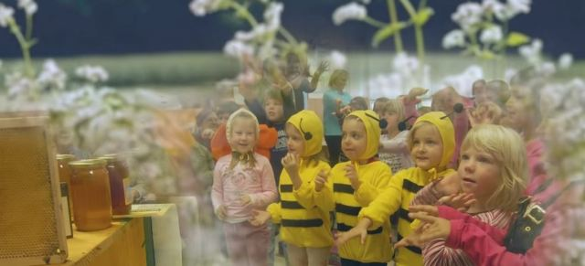 An image from the Slovene World Bee Day promotional video.