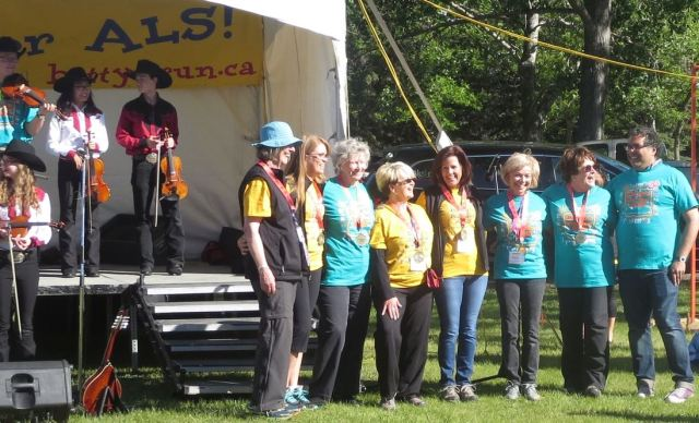 This was the 20th ALS fundraiser. Pictured is the organizing team with Calgary's mayor Naheed Nenshi and actress Wendy Crewon.