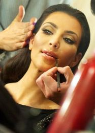 Kourtney Kardashian - an application of honey?