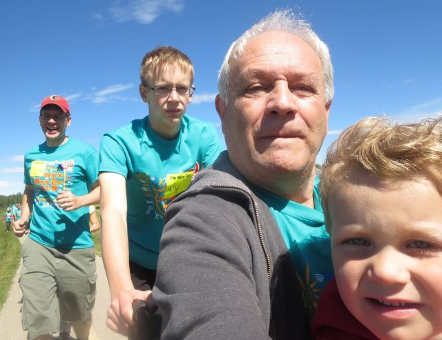 Selfie. With two of my kids and a grandson on my lap. It was quite a day.