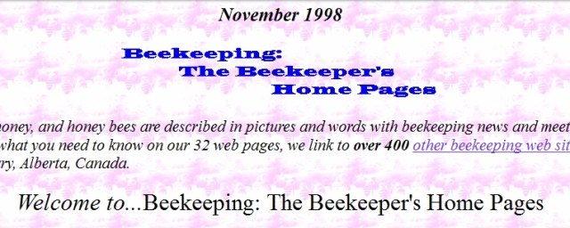 Bee Home Pages 1998