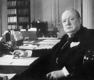 Churchill used a cigar, not a pen. Cool, eh?