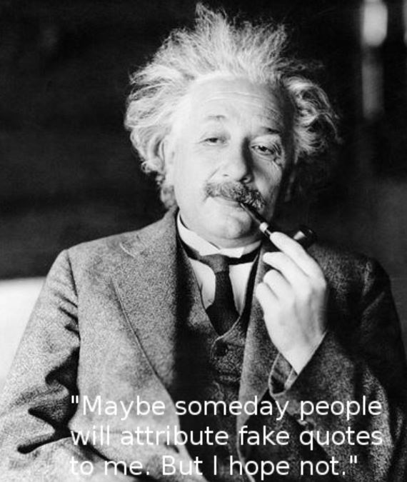 Einstein fake quotes